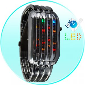 The Cylon - Japanese Multicolor LED Watch  [TKE-CVIZ-G87]