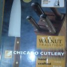 6 piece cooking knife set w/ wood block