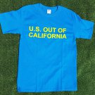 """U.S. Out Of California"" t-shirt, L size"