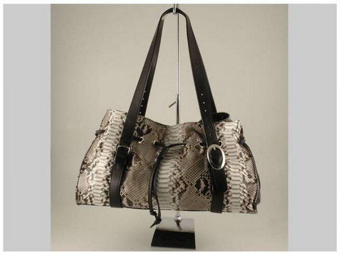 Italian HighQuality PythonLeather Lady Bag LS- Vittoria
