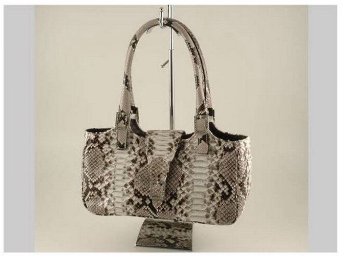 Italian High Quality Python Leather Lady Bag - Margaret