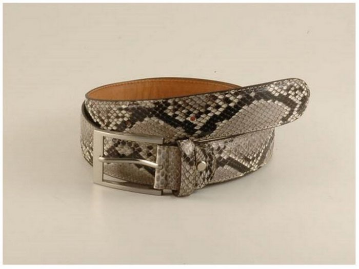 Italian High Quality Python Leather Belt - Exclusive