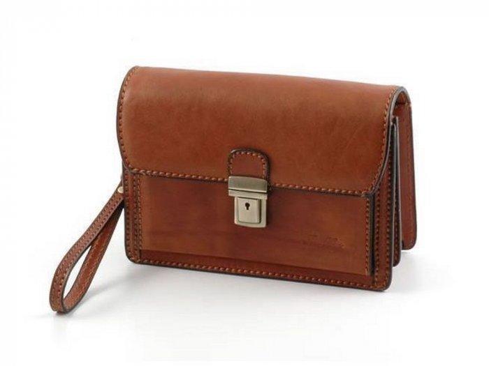 Italian High Quality Calfskin Leather Bag - Tommy