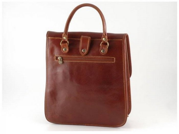 Italian High Quality Calfskin Leather Bag - Patrick