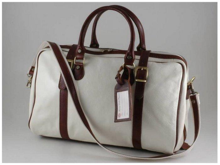 Italian High Quality Calfskin Leather TravelBag -Berlin