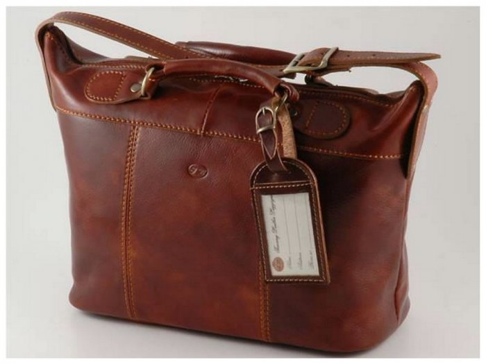 Italian High Quality Calfskin Leather TravelBag - Ibiza