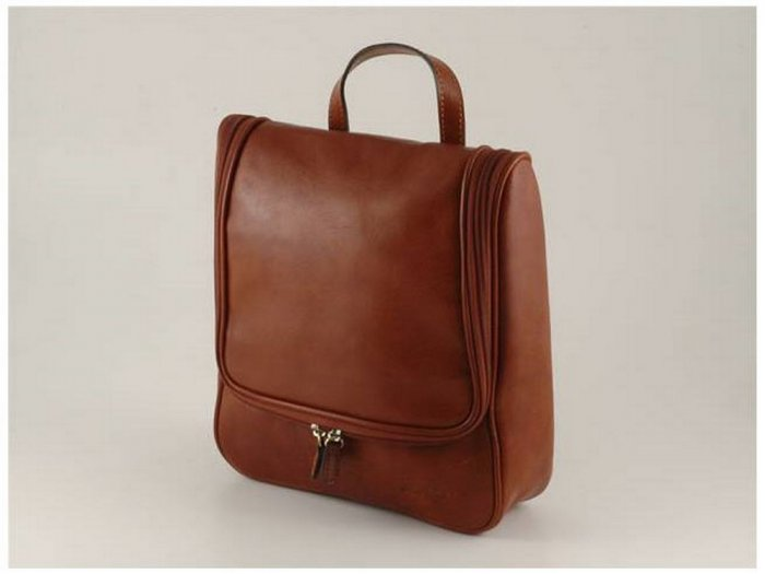Italian High Quality Calfskin Leather BeautyCase - Rudy