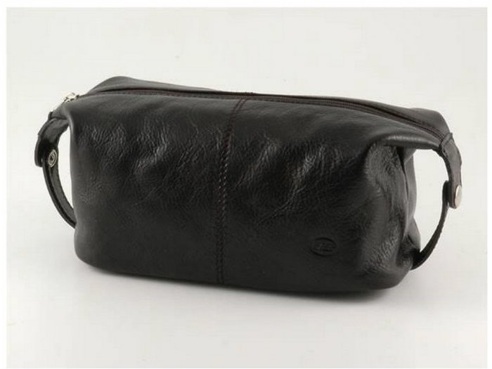 Italian High Quality Calfskin Leather Toilet Bag - Roxy