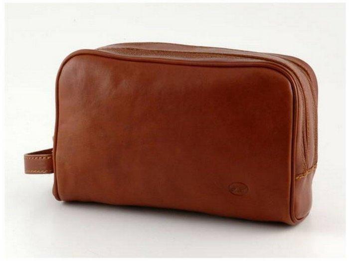 Italian High Quality Calfskin Leather Toilet Kit - Miro