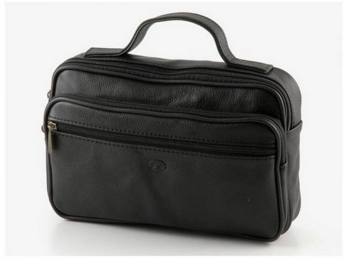 Italian High Quality Sauvage Leather Toilet Bag - Dixie