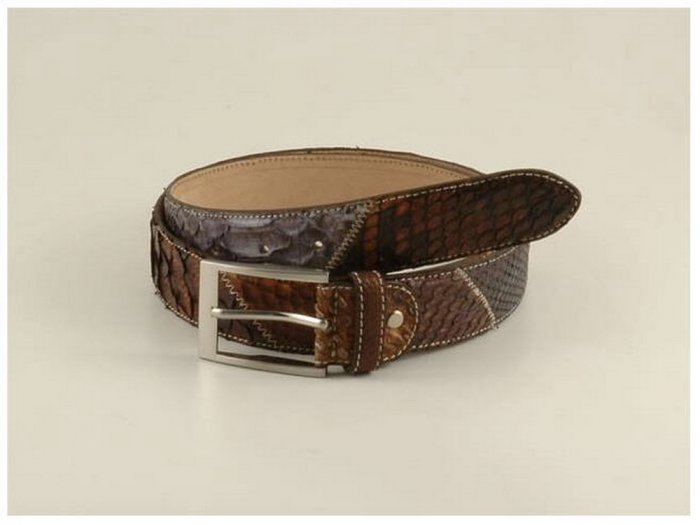 Italian High Quality Python Leather Lady Belt