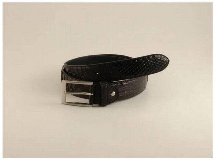 Italian High Quality Python Crocko Leather Belt