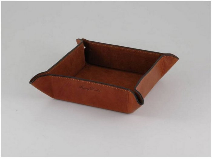 Italian High Quality Calfskin Leather Tidy Tray