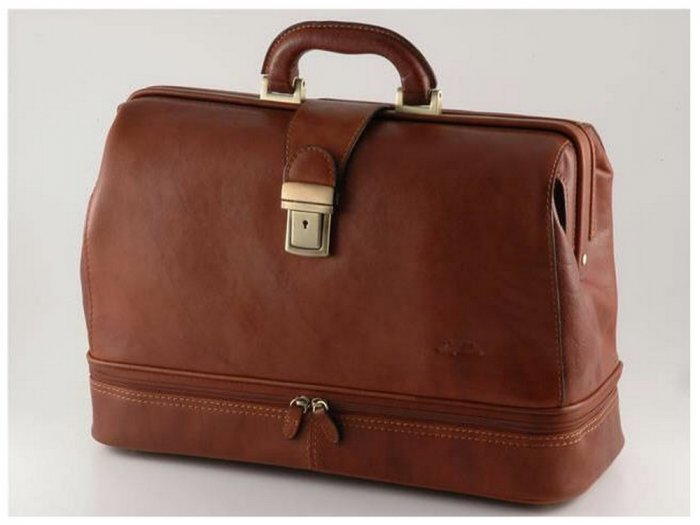 ItalianHighQuality CalfskinLeather DoctorBag-Tintoretto