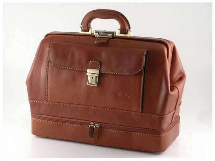 Italian High Quality CalfskinLeather DoctorBag - Giotto