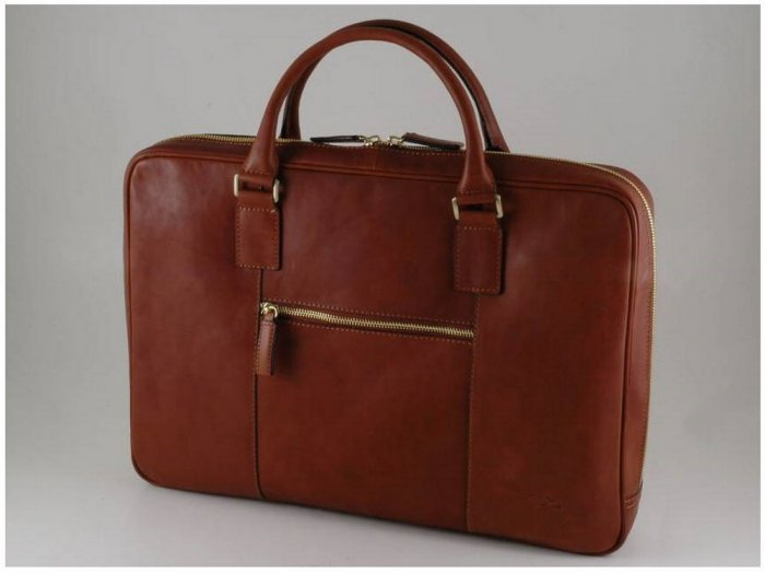 Italian High Qlty CalfskinLeather Briefcase-Montalcino