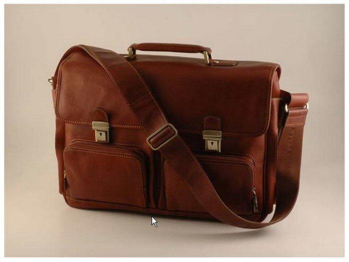 Italian HighQlty Calfskin Leather Briefcase-Ventimiglia