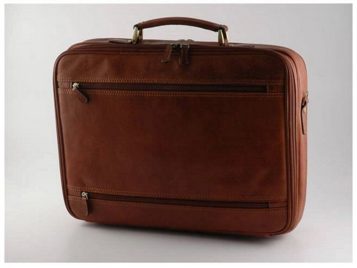 Italian High Quality Calfskin Leather Briefcase-Vicenza