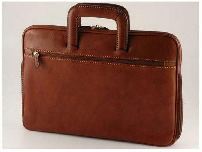 Italian High Quality Calfskin Leather Briefcase- Savona