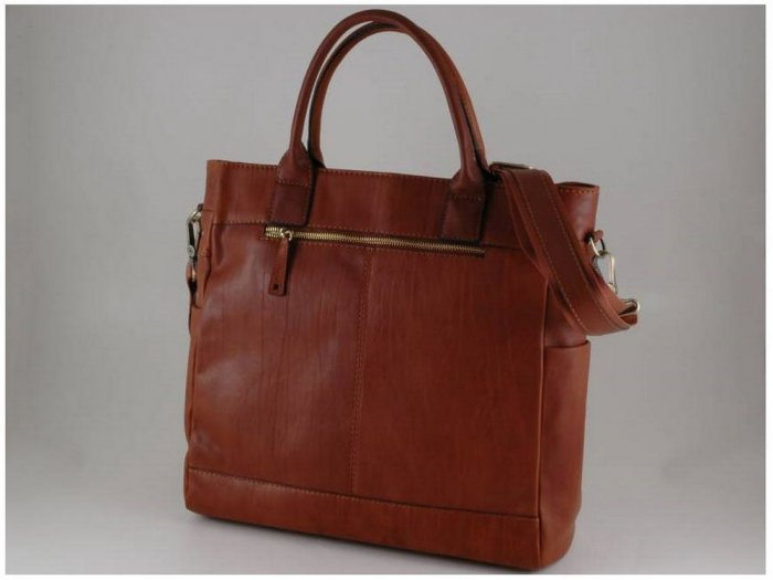 Italian HighQuality Calfskin Leather Briefcase-Saturnia