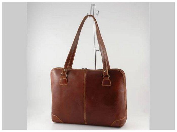 Italian High Quality Calfskin Leather Briefcase-Ravenna