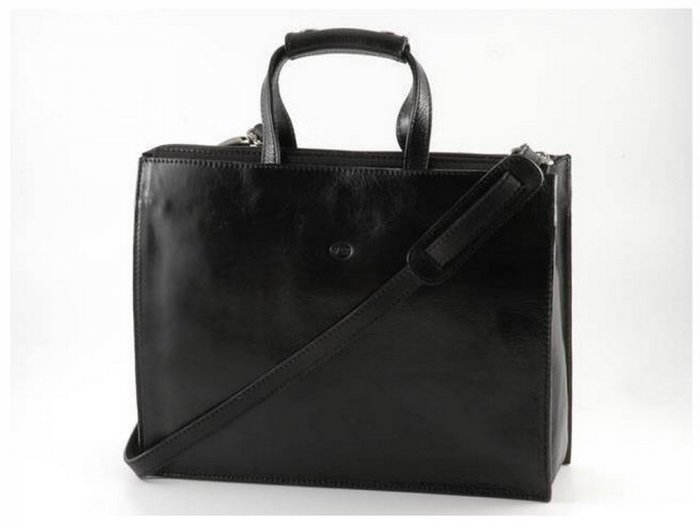 Italian High Quality Calfskin Leather Briefcase-Palermo