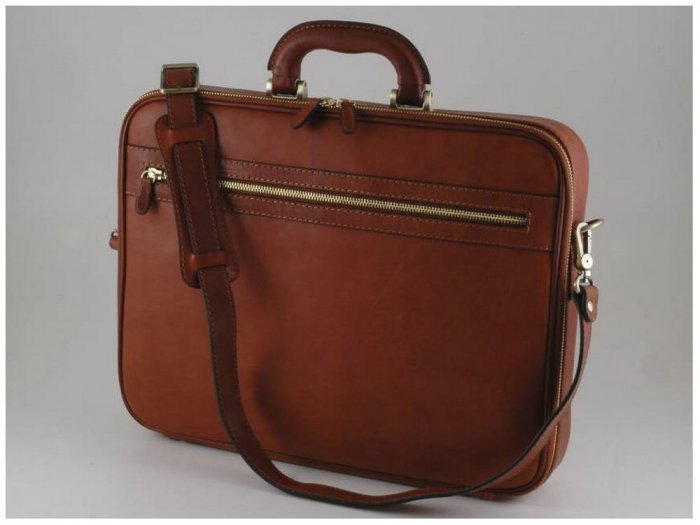 Italian High Quality Calfskin Leather Briefcase -Milano