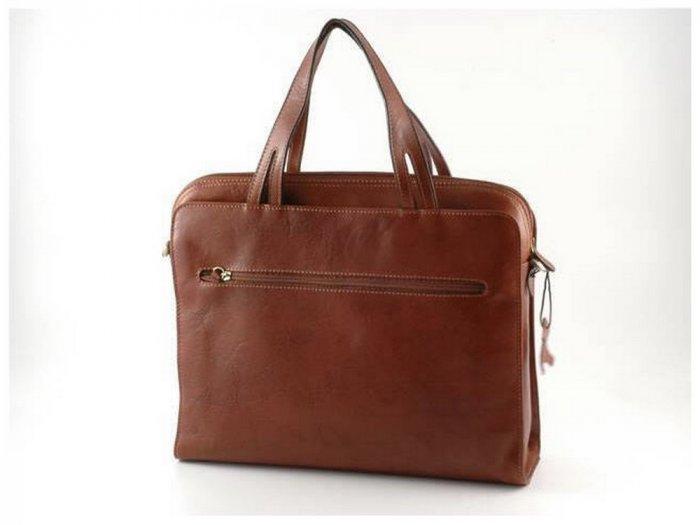 Italian High Quality Calfskin Leather Briefcase -Lipari