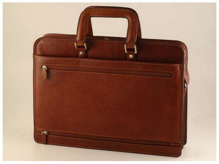 Italian High Quality Calfskin Leather Briefcase - Lecce