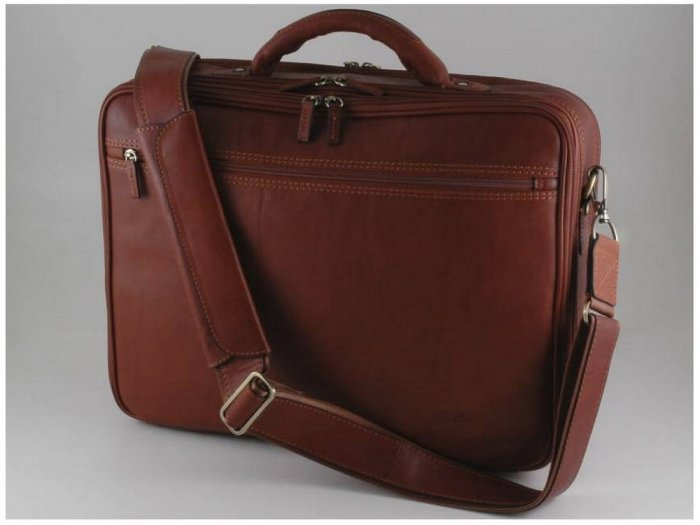Italian High Quality Calfskin Leather Laptopcase-Genova