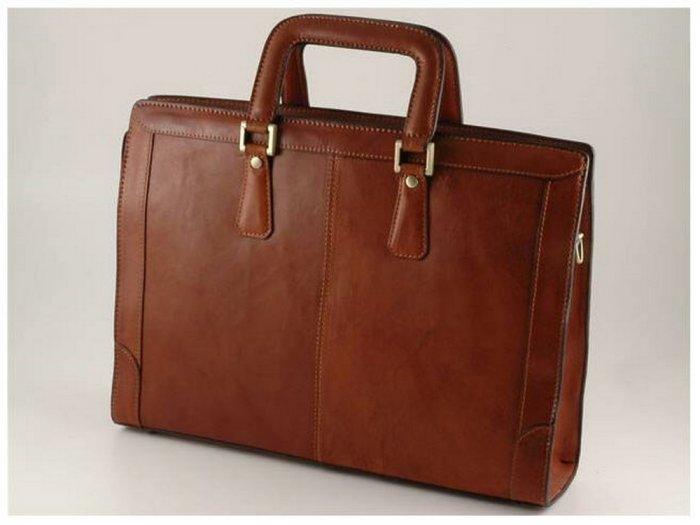 Italian High Quality Calfskin Leather Briefcase-Ferrara