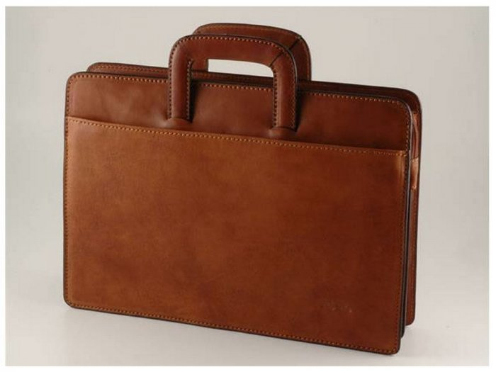 Italian High Quality Calfskin Leather Briefcase-Catania