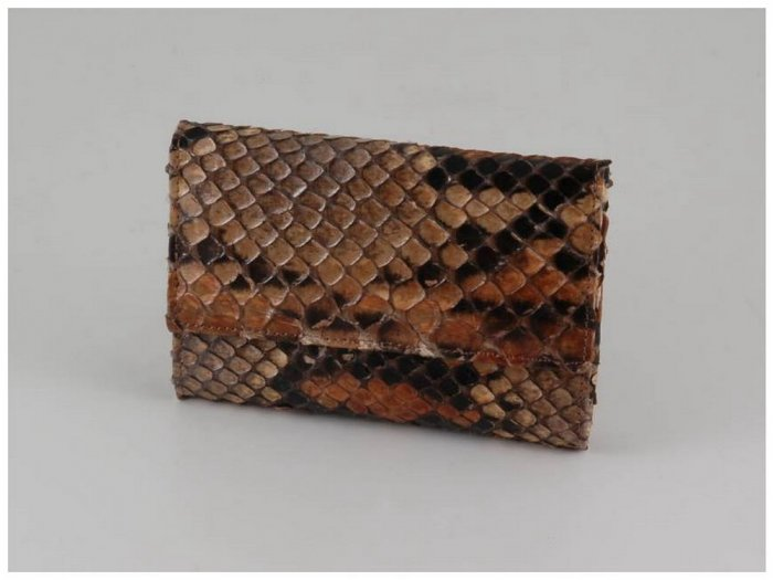 Italian High Quality Python Leather Women Wallet