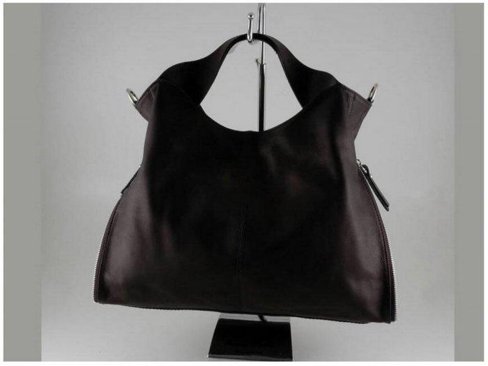 Italian High Quality Sauvage Leather Lady Bag - Aurora