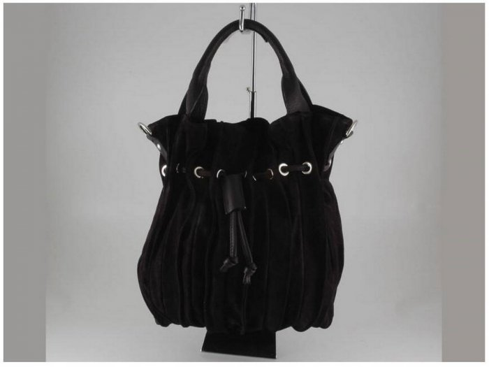 Italian High Quality Seude Leather Lady Bag - Gemma