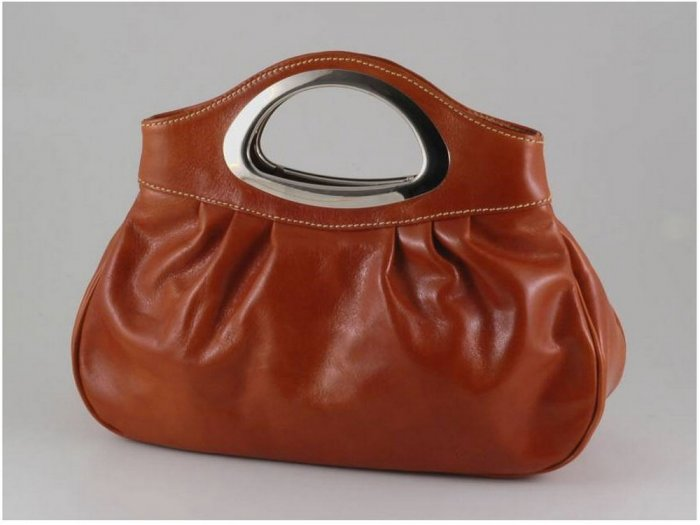 Italian High Quality Calfskin Leather Lady Bag - Nicole