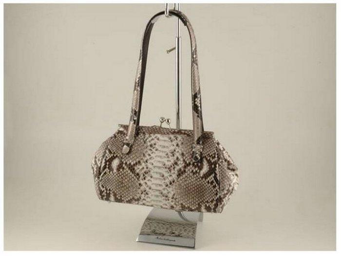 Italian High Quality Python Leather Lady Bag-Elizabeth