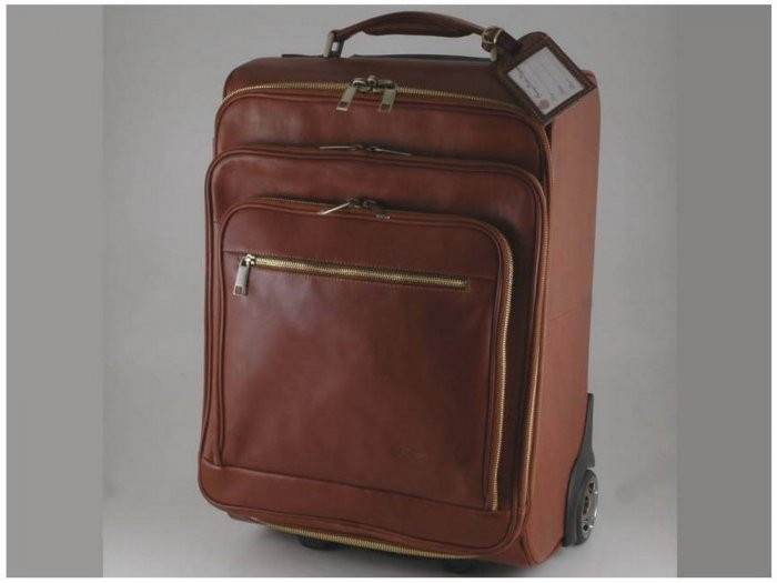 Italian HighQuality CalfskinLeather TravelBag-San Diego