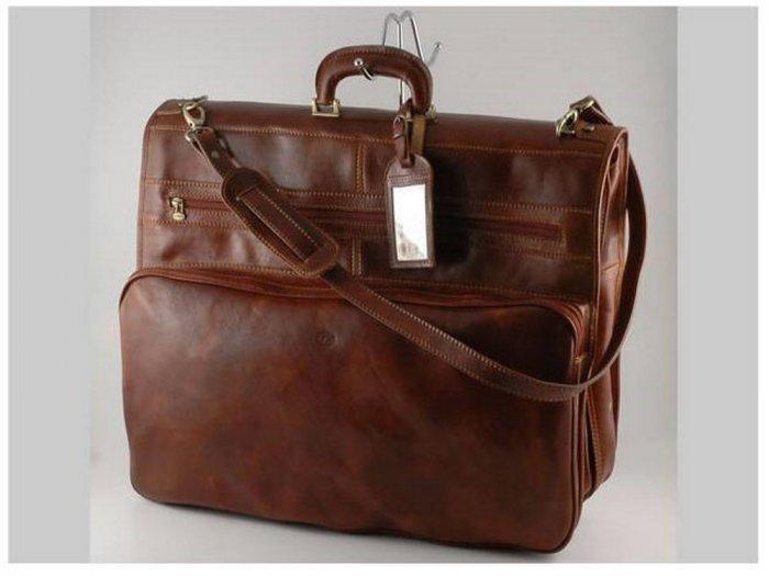 Italian High Quality Calfskin Leather TravelBag-Papeete