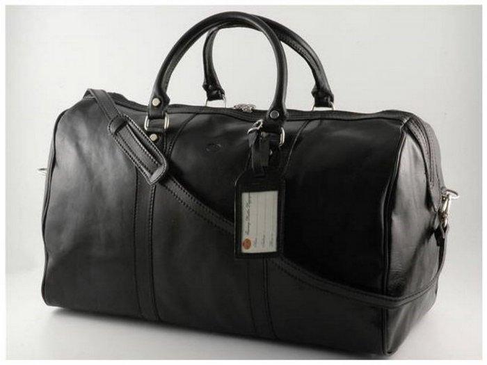 Italian High Quality Calfskin Leather Travel Bag - Oslo