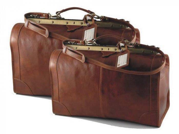 Italian High Quality Calfskin Leather TravelSet -Madrid