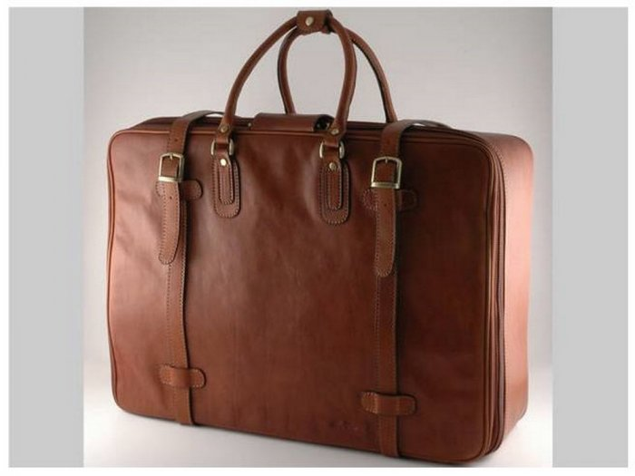 Italian High Quality Calfskin Leather TravelBag -London
