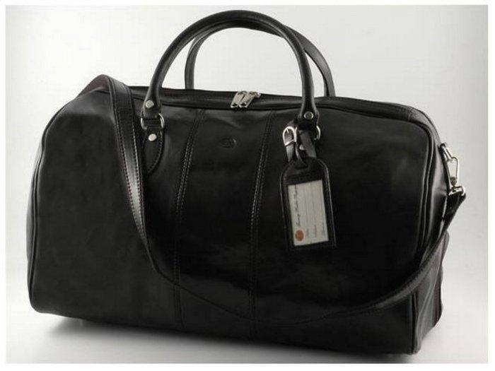 Italian High Quality Calfskin Leather TravelBag -Lisbon