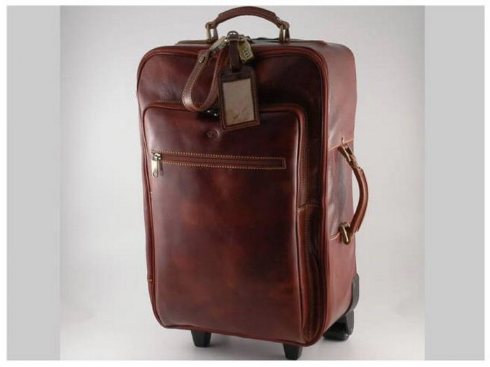 Italian High Quality CalfskinLeather TravelBag-Honolulu