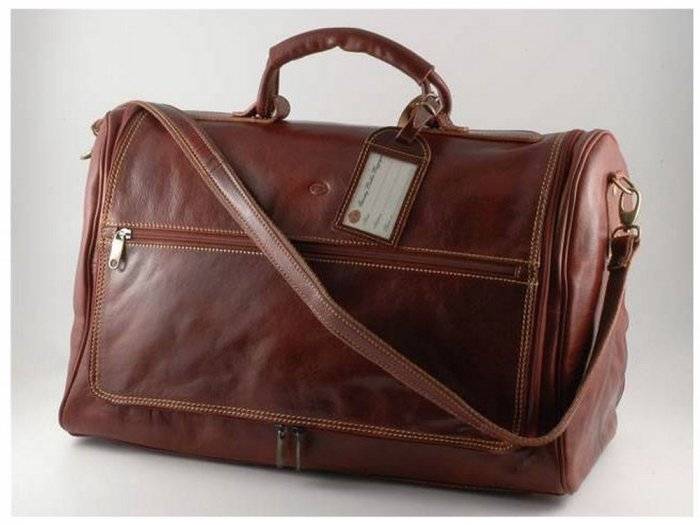Italian High Quality CalfskinLeather TravelBag -Ginevra
