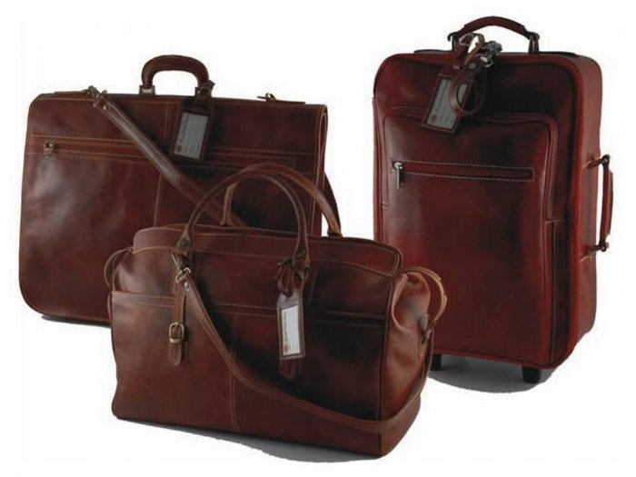 Italian High Qlty CalfskinLeather TravelSet -Excellence