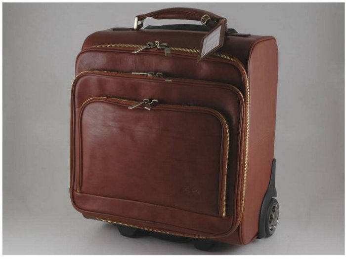 Italian High Quality CalfskinLeather TrolleyBag-Chicago