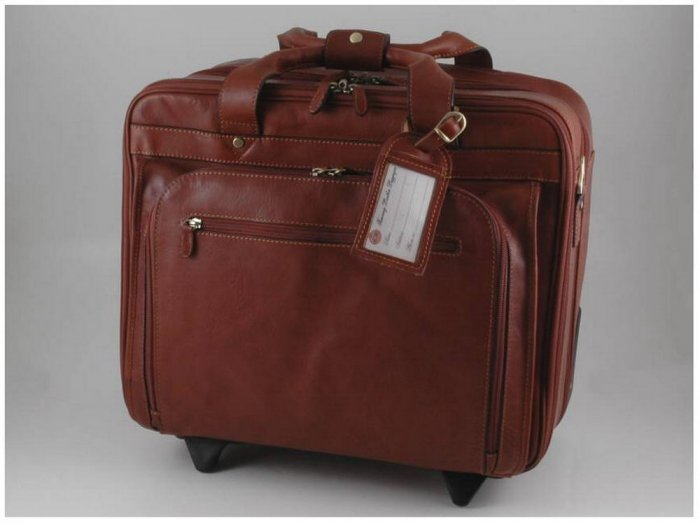 Italian High Qlty CalfskinLeather Trolley Bag - Caracas