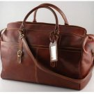 Italian High Qlty CalfskinLeather Travel Bag -Budapest
