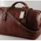 Italian High Qlty CalfskinLeather Travel Bag -Bruxelles